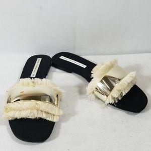 Zara Trafaluc Black Sandals Size 38